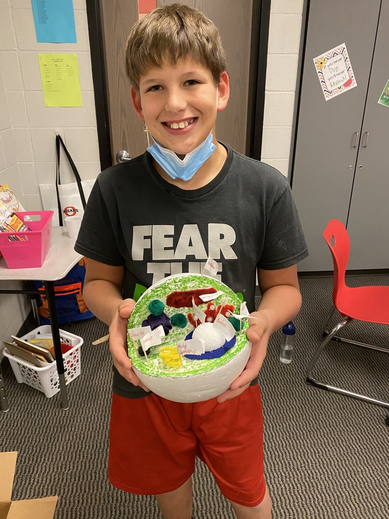 Marshall with his animal cell