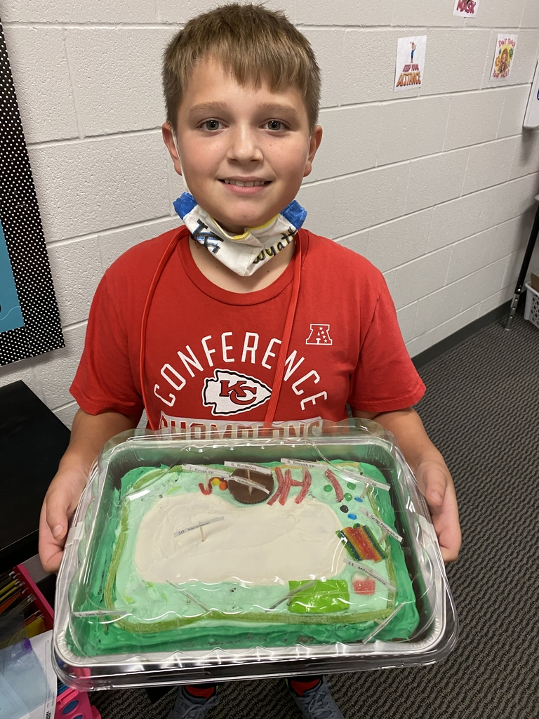Wyatt with a plant cell