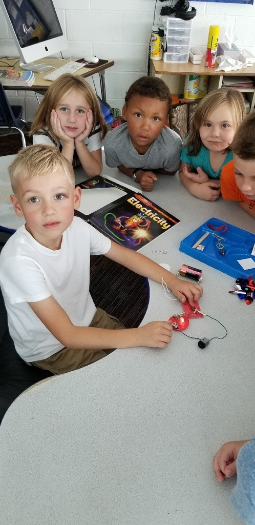 first grade was learning about electricity Friday in Science class!
