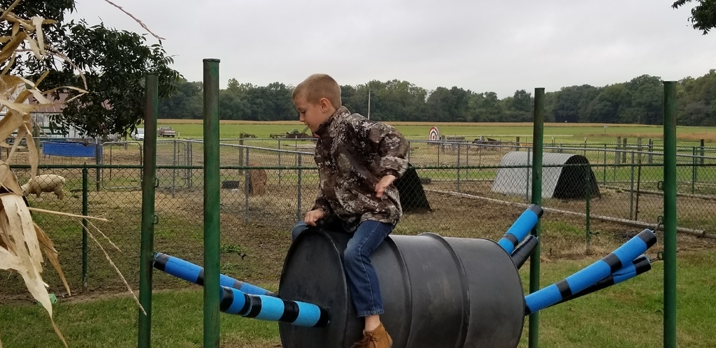 Liam rides the barrel bull!