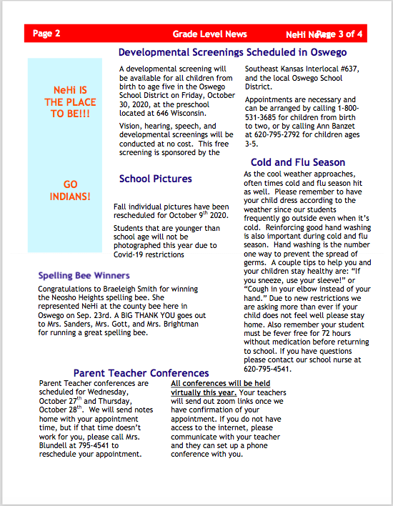 October Newsletter second page